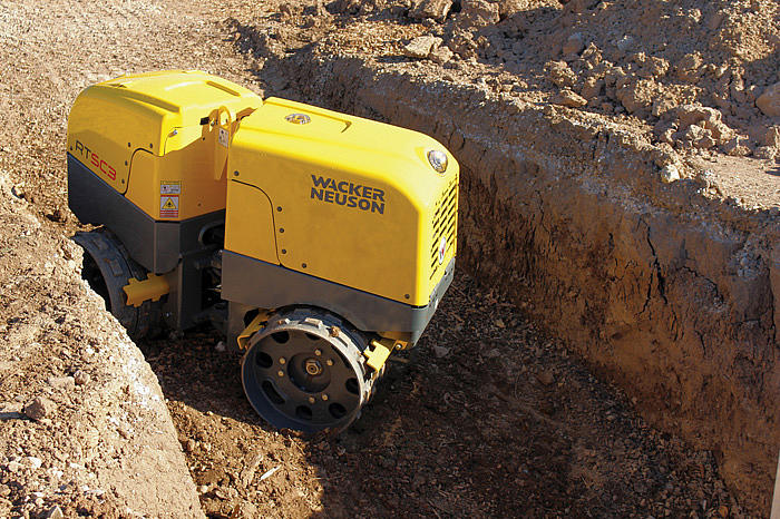 Trench Roller RTX-SC3 - in action
