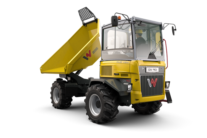 DV90 dual view truck dumper with swivel driver's console