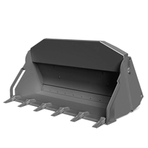 Attachment tools for Telehandlers - Grab bucket 4-in1 with teeth