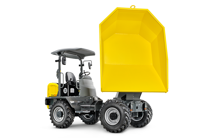 wheel dumper dw50 with tilted bucket front