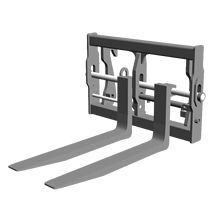 Attachment tools for Telehandlers - Pallet fork Floating - hydraulically adjustable
