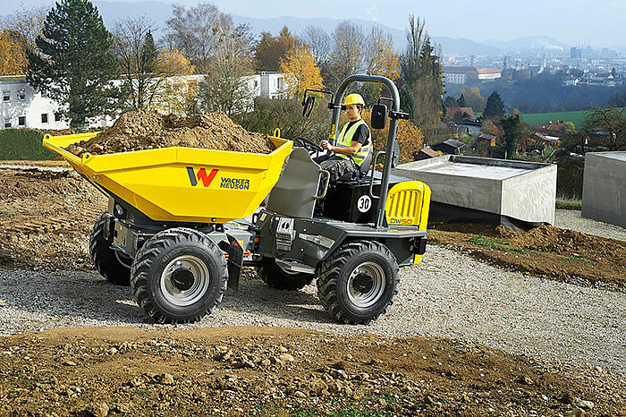 wheel dumper dw50 in action
