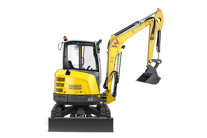 EZ36 zero tail compact excavator - trimmed for productivity