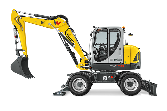 Wacker Neuson EW100 vista laterale