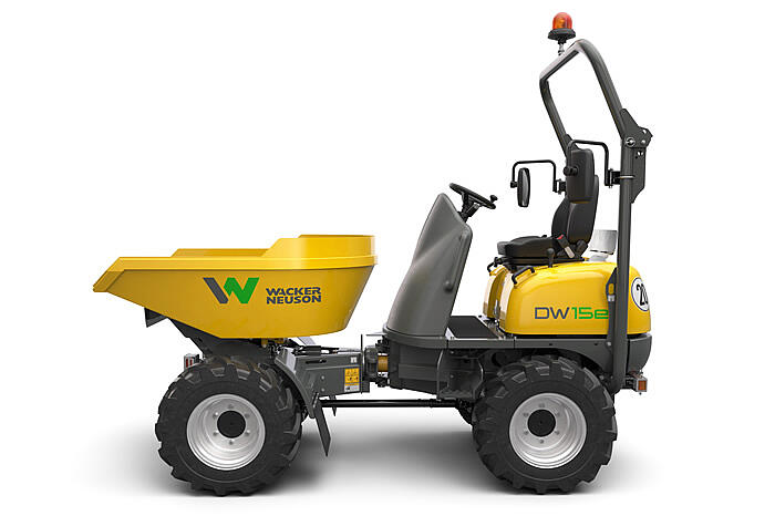 Electric Wheel Dumper DW15e from the side